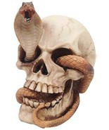 SKELETON COBRA SNAKE HABITAT SKULL FIGURINE STATUE SCULPTURE FOR HALLOWE... - $378,94 MXN