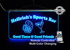 Personalized LED Sign, Sports Bar, Man Cave, Signage, Multi-Color Changing - $142.00
