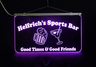 Personalized LED Sign, Sports Bar, Man Cave, Signage, Multi-Color Changing