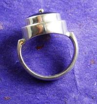 Sterling Hematite talisman Ring Tower design bloodstone healing silver a... - $155.00