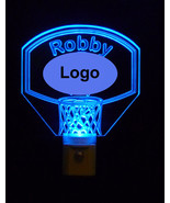 Personalized Sports Basketball Night Light-Custom LED Light - Favorite T... - $23.50