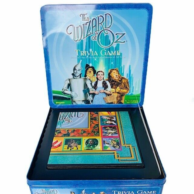 Primary image for Wizard of Oz Trivia Game vtg 1999 Pressman tin box Judy Garland Turner Dorothy