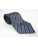 Men's New CROFT & BARROW 100% Silk Tie Blue Str... - £13.21 GBP