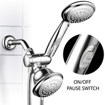 42-Setting Premium Chrome Shower Combo with ON / OFF Pause Switch, 5-7 F... - $39.99