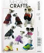McCall's M5998 Dog Coat Dress Robe Leggings Cape Bib Clothes Pattern - $14.99