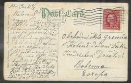 1910 2 cents Washington on Williamburg Bridge Postcard NYC (Feb 3) to Bo... - $4.00
