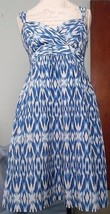 Ann Taylor Loft sz 6 sundress empire waist blue... - $23.00