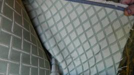 Tan Beige Green Bamboo Print Upholstery Fabric 1 Yard - $24.95