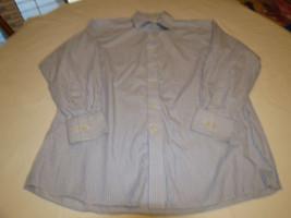 Mens Michael Kors 16 1/2 32-33 striped button up long sleeve shirt casua... - €33,66 EUR