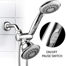 30-Setting 3-Way Chrome Spiral Shower Head / Hand Shower Combo with Paus... - $34.99