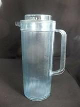 Tupperware Preludio Pitcher Watercolor Blue 2 Quart Acrylic 2003 - $9.85