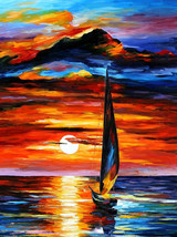 Towards The Sun - oil painting by Leonid Afremov - $239.00