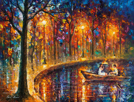 Our Little Boat - oil painting by Leonid Afremov - $139.00