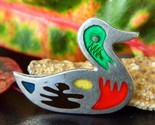 Vintage taxco mexico mallard duck brooch pin 925 sterling silver thumb155 crop