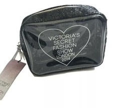 NWT Victorias Secret Sequin Makeup Bag Fashion Show London 2014 Cosmetic Case - $18.50