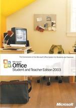 MICROSOFT OFFICE Student & Teacher Edition 2003 w/ Product Key PC MS Wor... - $14.01