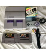 ☆ Super Nintendo System Console Bundle W/ 2 SNES Games Lot Tested Works ☆ - $54.00