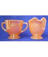 Vintage Fire-King Luster Ware Laurel Leaf Cream... - $9.89