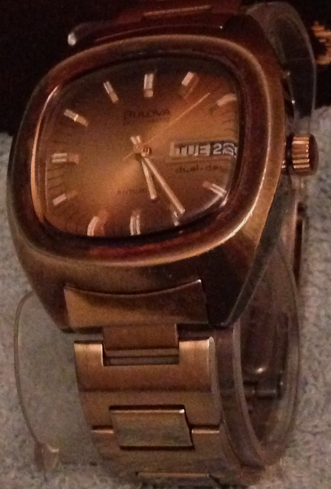 "TV DIAL Mens BULOVA AUTOMATIC 1970s Set-o-Matic Wrist Watch SWISS MADE ""WORKING"" - $268.74"
