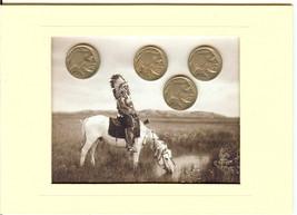 Four Buffalo Head Nickel Mini Collection with I... - $8.00