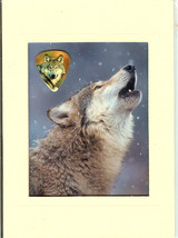 Wolf Collecter's Plaque with Wolf Image Guitar ... - $5.50