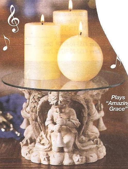Cherubs Musical Candle Pedestal