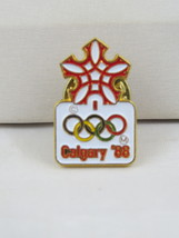 1988 Winter Olympic Games Pin - Full Colour Official Logo Pin  - $15.00