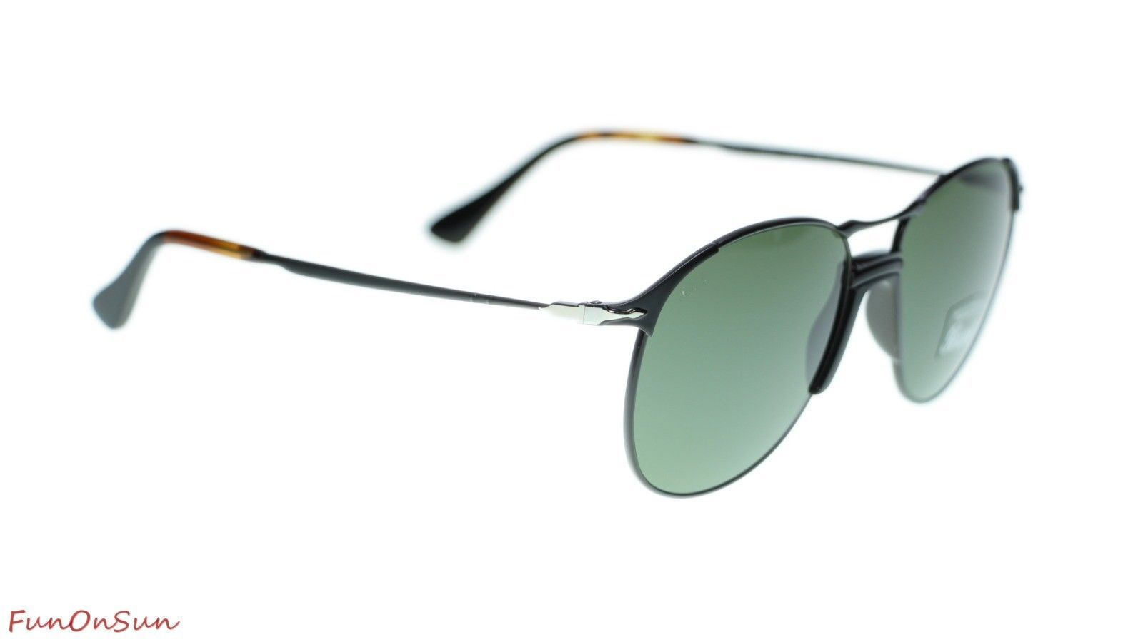 Persol Mens Sunglasses PO2649S 107831 Black/Green Lens 55mm