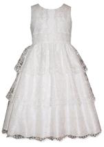 Little Girls 2T-6X Tiered Lace Communion Flower Girl Dress