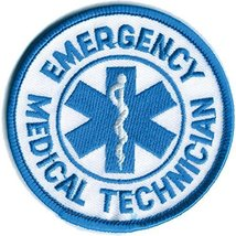 """Official EMT Patch Emergency Medical Technician Public Safety 3"""" Circle ... - $6.99"""