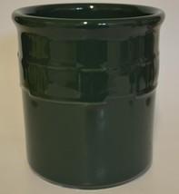 LONGABERGER POTTERY ~ Green Crock Woven Traditions 1 Quart (No Lid) - $44.95