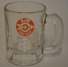 A&W Root Beer ~ Bullseye & Arrow Logo Mini Glass Cup Mug ~ Advertising C... - $14.95