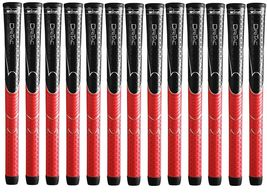 13 Winn Dri-Tac Standard Black Red Golf Grips 5DT BRD  - $82.95