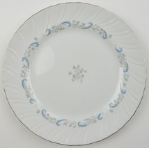 Camelot China Gracious Dinner Plate Tableware Dinnerware Blue Gray Flora... - $8.99