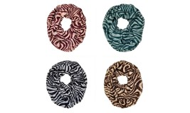 Zebra Animal Print Stripe Block Circle Loop Wrap Infinity Scarf Multi Color Soft - $6.45