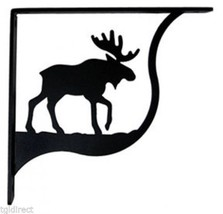 "Wall Shelf Bracket Pair Of 2 Moose Pattern Wrought Iron 5.25"" L Crafting... - $37.99"