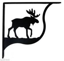 "Wall Shelf Bracket Pair Of 2 Moose Pattern Wrought Iron 5.25"" L Crafting... - $37.99"