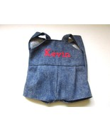 Denim Overall Shorts for Kevin Teddy Bear or Boy Doll - $18.00