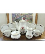 Thun Czechoslovakia Tradition Pattern Floral And Basket Weave Tea Set - ... - $135.00