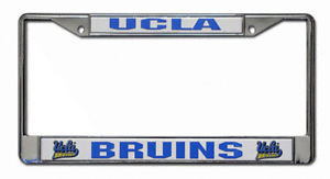 UCLA BRUINS CAR AUTO CHROME METAL LICENSE PLATE FRAME NCAA