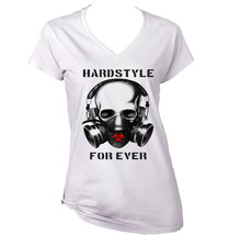 Hardstyle For Ever   New Cotton White Lady Tshirt - $25.89