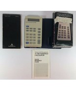 Vintage 1983 Texas Instruments TI-1100 Handheld Calculator Box and Instr... - $16.82