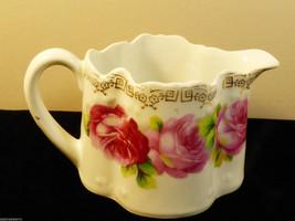 Z. S. & Co Bavaria porcelain Creamer pitcher pink Rose Pattern - $20.79