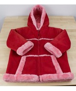 WIDGEON JACKET COAT HOODED WINTER GIRLS YOUTH SIZE 4 RED SOFT LINING - $29.39