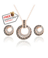 Austrian Crystal Necklace Earring Chain Jewelry Sets For Girl 2016 Fashi... - $13.99