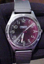 Men's Prestige Watch by Waltham Working New Battery Large Black Face Quartz - $29.95