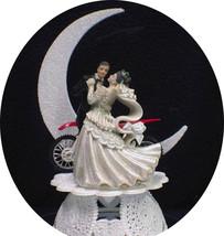 Off Road Dirt Bike Motorcycle wedding Cake topper Honda racing Moonlight dance - $54.33