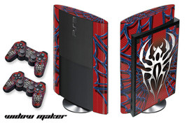 Skin Decal Wrap for PS3 Playstation Gaming Console Controller Super Slim WIDOW - $11.76