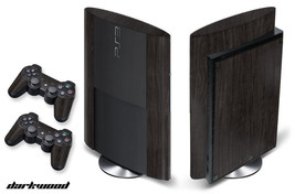 Skin Decal Wrap for PS3 Playstation Gaming Console Sticker 3 Super Slim - D WOOD - $11.76