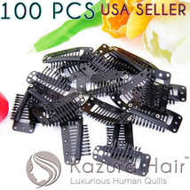 100 PCS Large Silicone 10-teeth Snap Comb Hair Clips Wig - US SELLER FAS... - €26,63 EUR